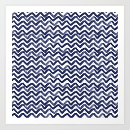 Zig Zag Waves Art Print