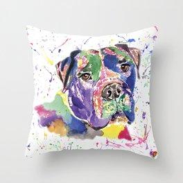 Bull Mastiff Throw Pillow