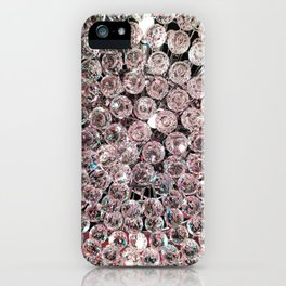 Pale Pink Crystals iPhone Case
