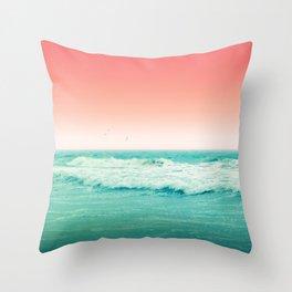 Aqua and Coral, 2 Throw Pillow