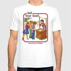 SELL YOUR SOUL White LARGE Mens Fitted Tee