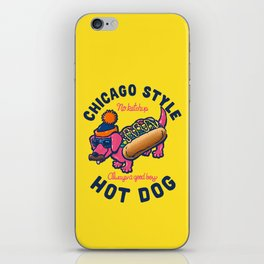 Da Chicago Dog With Text iPhone Skin