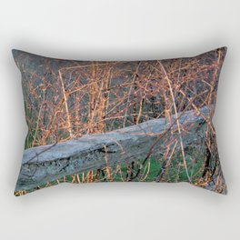 Straw Pi over fence Rectangular Pillow