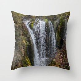 Upper Roughlock Falls Throw Pillow