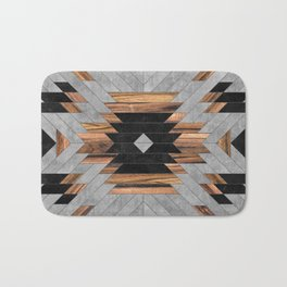 Urban Tribal Pattern No.6 - Aztec - Concrete and Wood Badematte