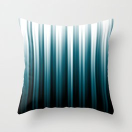 Tropical Dark Teal Inspired by Sherwin Williams 2020 Trending Color Oceanside SW6496 Sofy Vertical Blurred Line Pattern Throw Pillow