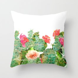 scratched cactus Throw Pillow