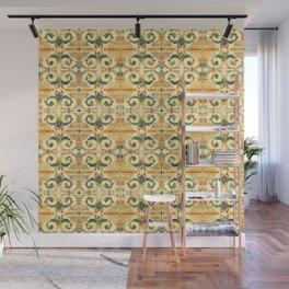 Organic floral vintage tiles - Art in ceramic mosaics Wall Mural