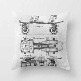 Roller Skate Throw Pillow