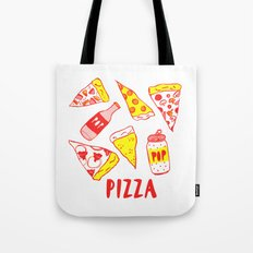 Pop N Pizza Graphic Tote Bag
