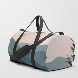 Smoky Mountain Pastel Sunset Duffle Bag