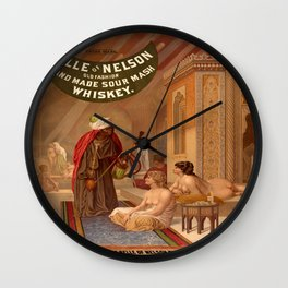 Vintage poster - Whiskey Wall Clock