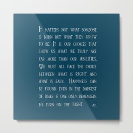 Dumbledore wise quotes Metal Print