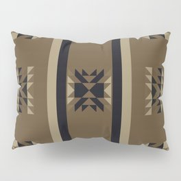 SEDONA southwest inspired pattern in black, tan, and mocha brown Pillow Sham