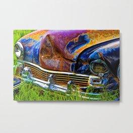 Vintage Frazer Auto Wreck Front End Metal Print