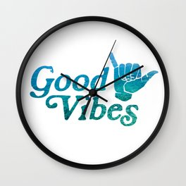 Good Vibes Shaka Wall Clock
