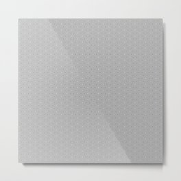 Grey and White small flower pattern Metal Print
