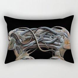 Brain connected cyborgs. External view Rectangular Pillow