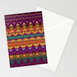 Retro Tribal Zag Print Ziggy Zag Zag Zeal YES! Stationery Cards