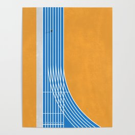 Finish Line | Aerial Illustration Poster