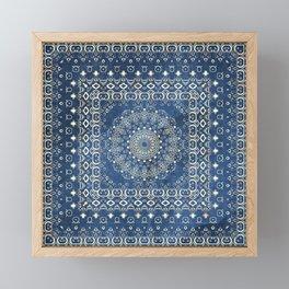 Old Bookshop Magic Mandala in Blue Framed Mini Art Print