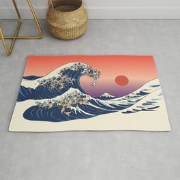 The Great Wave Of  French Bulldog Rug