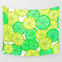 Lemons and Limes Wall Tapestry
