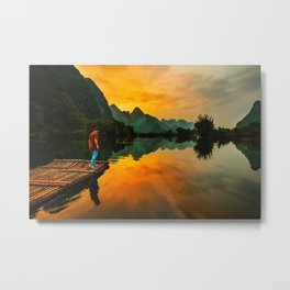 Sunrise on the Lake (Color) Metal Print