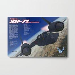 SR-71 Blackbird Metal Print