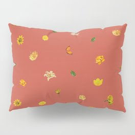 Pineapple Floral (Red) Pillow Sham