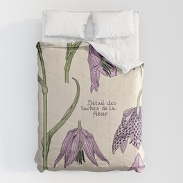 Maurice Verneuil - Fritillaire - botanical poster Comforters