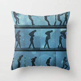 movement jump Throw Pillow
