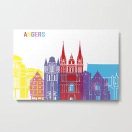 Angers skyline pop Metal Print