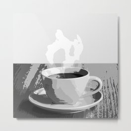 Steaming Cup of Coffee Metal Print