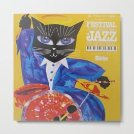 1994 Montreal Jazz Festival Cool Cat Poster No. 3 Gig Advertisement Metal Print