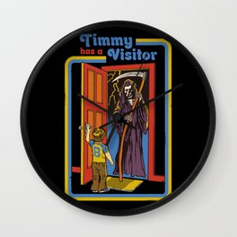 TIMMY HAS A VISITOR Wall Clock