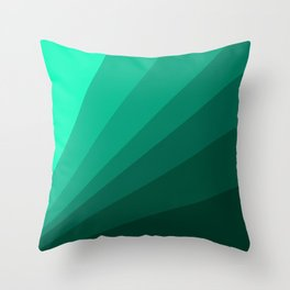 Sea green folding hand fan, fresh and simple summer tropical mood design Throw Pillow