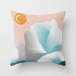 Glacial Sunset Throw Pillow