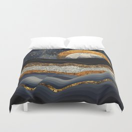 Metallic Mountains Duvet Cover