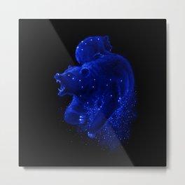 Blue Ursa Metal Print