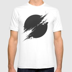 The Sun Is Black White MEDIUM Mens Fitted Tee