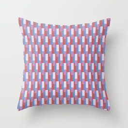 Modern geometric abstract 17a - pink and blue pattern Throw Pillow