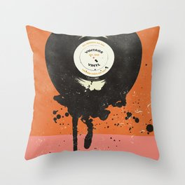 VINTAGE VINYL DRIP Throw Pillow
