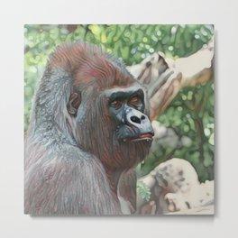 Impressive Animal - Strong Gorilla Metal Print
