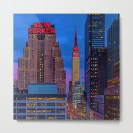 The New Yorker, 481 8th Ave, New York, NY, A Portrait by Jeanpaul Ferro Metal Print