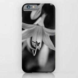 Hosta Bloom Black & White Botanical / Nature / Floral Photograph iPhone Case