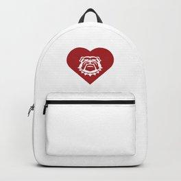 Bulldog Mascot Cares Red Backpack