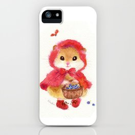 Little Red Riding Hood hamster iPhone Case