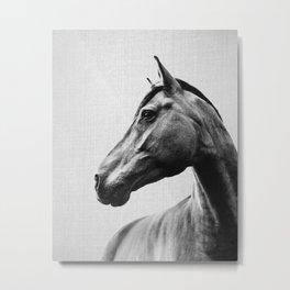 Horses - Black & White 2 Metal Print