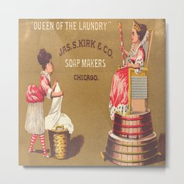Vintage Poster - Queen of the Laundry Metal Print